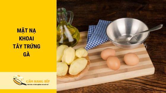 Trong trứng gà chứa nhiều vitamin B và Amide, có khả năng làm căng mịn và tăng độ đàn hồi cho da. Còn trong khoai tây lại chứa phenol và carotenoid, là chất giúp cho da trở nên hồng hào, trắng trẻo. Với việc đắp mặt nạ sử dụng kết hợp 2 nguyên liệu này sẽ giúp bạn nhanh chóng sở hữu làn da khỏe mạnh, căng tràn sức sống và sáng hồng.