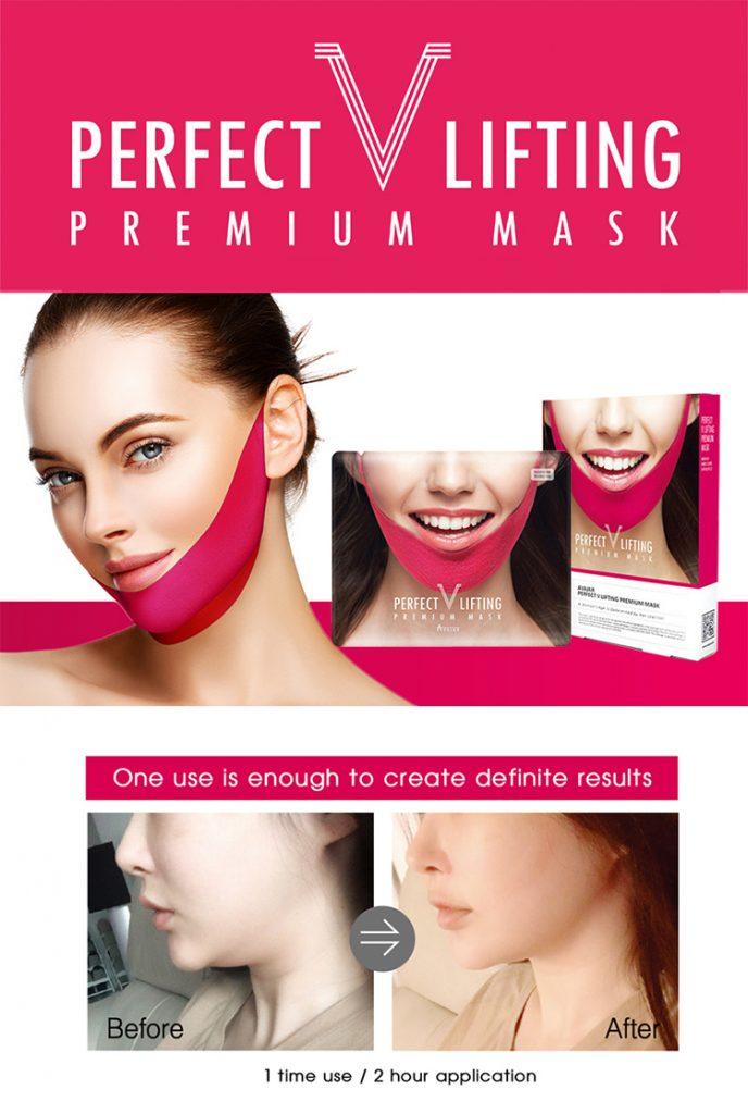 Mặt nạ nâng cơ mặt v line Avajar thật chất tên là  Mặt Nạ V Line Perfect V Lifting Premium Mask, có nguồn gốc từ Hàn Quốc của thương hiệu AVAJAR nên mọi người hay gọi là mặt nạ Avajar.