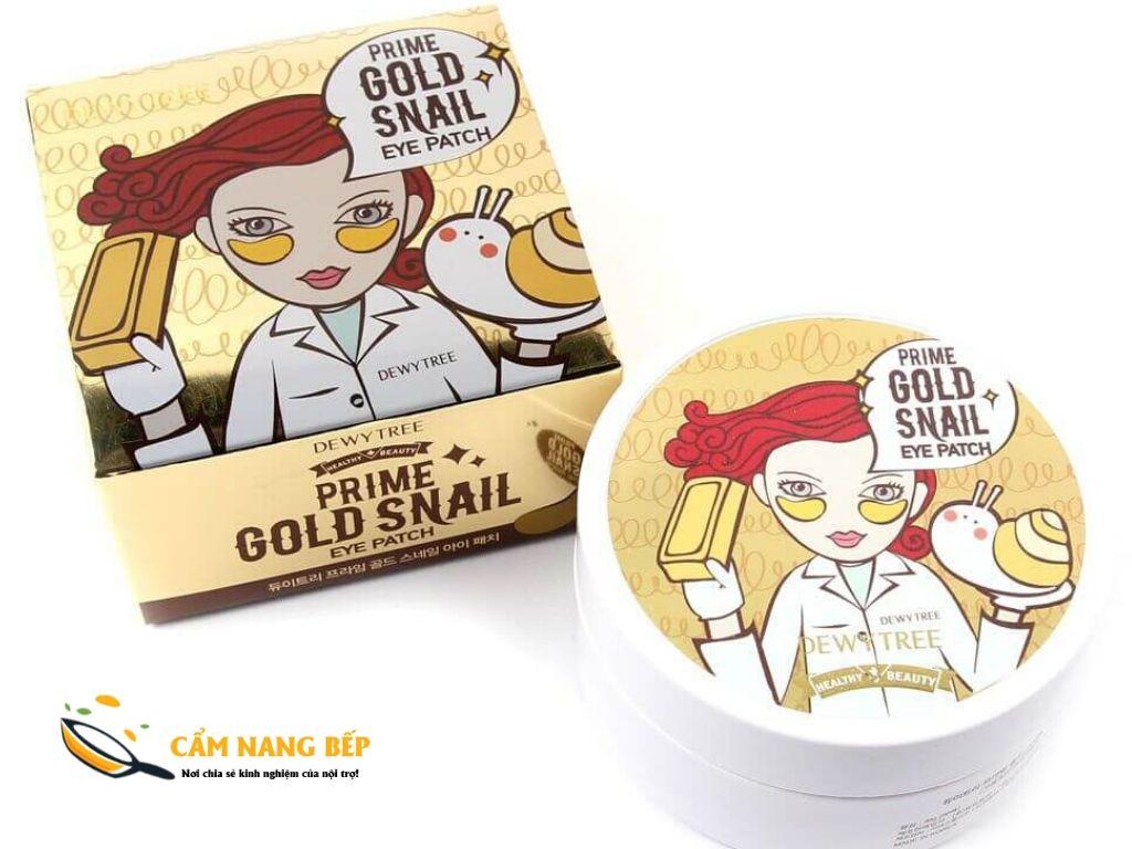 Loại này có giá hơi cao nhưng mình nghĩ tiền nào của ấy thôi. Một hộp Mặt nạ mắt dewytree prime gold snail eye patch 60 miếng có giá khoảng 240.000 VNĐ