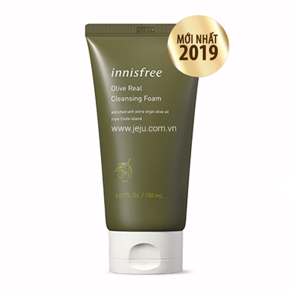 Review sữa rửa mặt Innisfree Olive Real Cleansing Foam